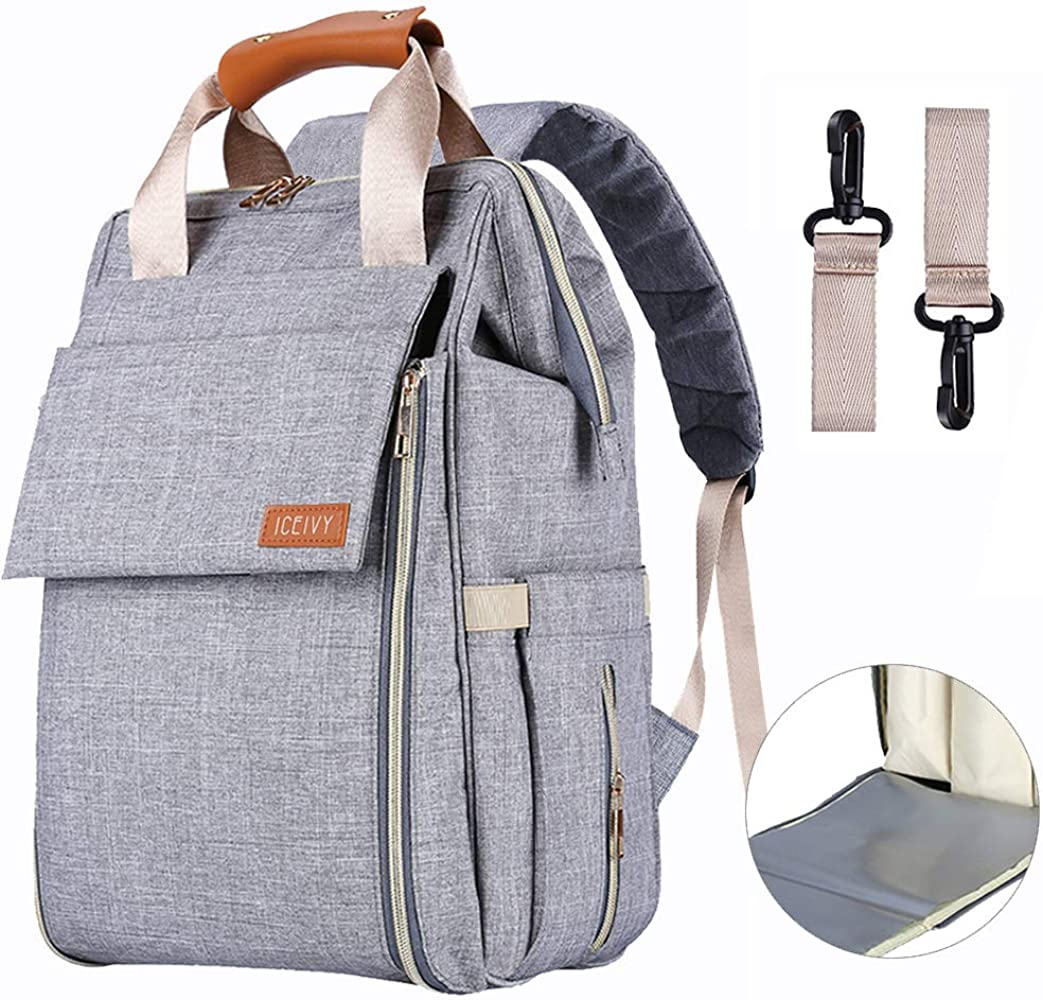 Large Capacity BabyX Diaper Bag Backpack with Multi-Function Waterproof Maternity Nappy Bags for Mom /& Dad Insulated Pocket Travel Organizer Baby Care Changing Bag Durable and Stylish -Dark Grey