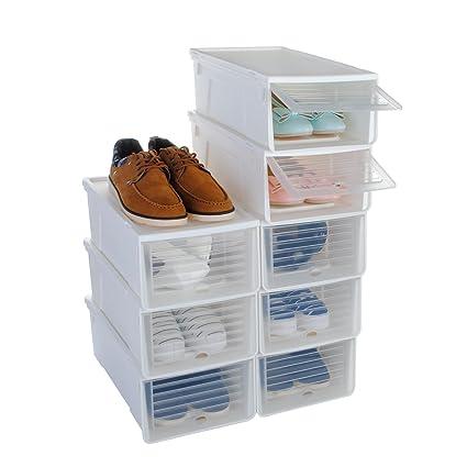 Caja de zapatos, funime apilable Caja de almacenamiento para zapatos organiser-for señoras y
