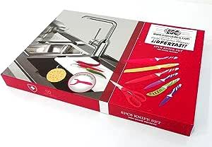 Compra EUROSEDICO // Estuche de cuchillos cerámicos / 8 piezas / 6 x cuchillos / 1 x tijeras / 1 x pelador de patatas en Amazon.es