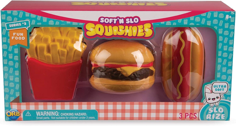 ORB Soft'n Slo Squishies Fun Food Variety Box - Cute Fidget & Sensory Toys for Boys & Girls. Best Gift for Kids!, 54267