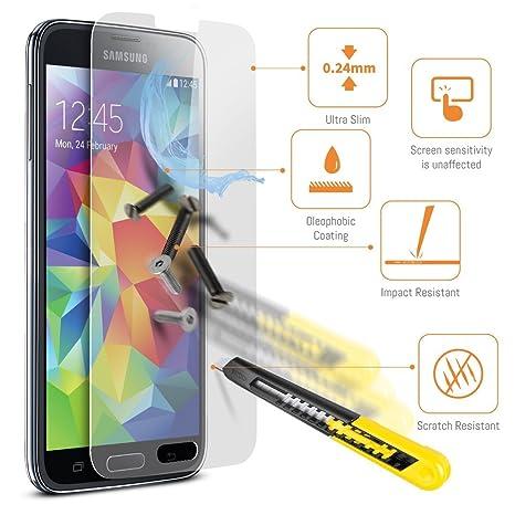 ACENIX® Premium templado cristal Protector de pantalla Samsung Galaxy S5 Neo, Dureza 9H,