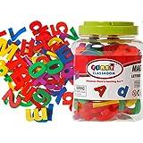 "1.75"" Magnetic Alphabet Letters & Maths Numbers Fridge Magnet 80 pcs in Jar"