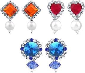 Sukkhi Copper Drop Earrings for Women (White) (CB70122RHDPD500)