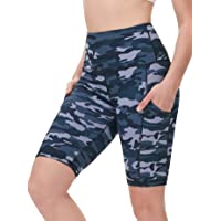 DILANNI Women High Waist Yoga Shorts Side Pocket Tummy Control Workout Running Athletic Short Pants