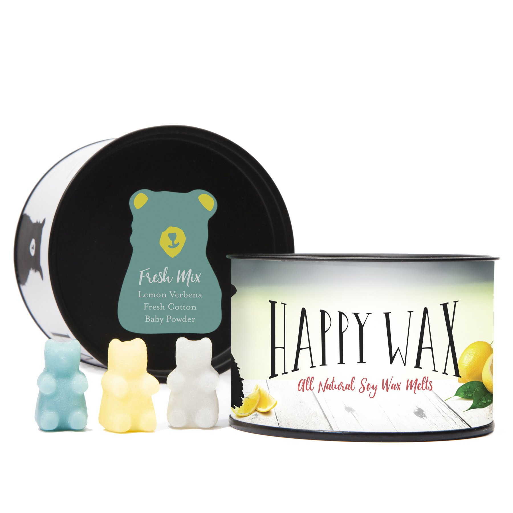 Happy Wax - Four Mixed Tins Wax Melt Gift Set - Includes 3.6 Oz Each of Our Scented Soy Wax Melts in Our Cocktail Mix, Fresh Mix, Citrus Mix, and Spa Day Mix! by Happy Wax (Image #4)