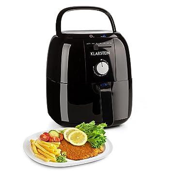 Klarstein VitAir Fries Basic freidora sin Aceite (1.400 W Potencia, 3 L Capacidad, regulador Temperatura Aire Caliente 80-200 ºC, Cocina Saludable Baja en ...