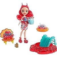 Enchantimals Coffret Plage, Mini-poupée Cameo Crabe et Figurines Animales Chela et Courtney avec accessoires aquatiques, jouet enfant, FKV60