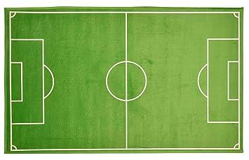 Amazon De Spielteppich Fussballfeld Kinderzimmerteppich