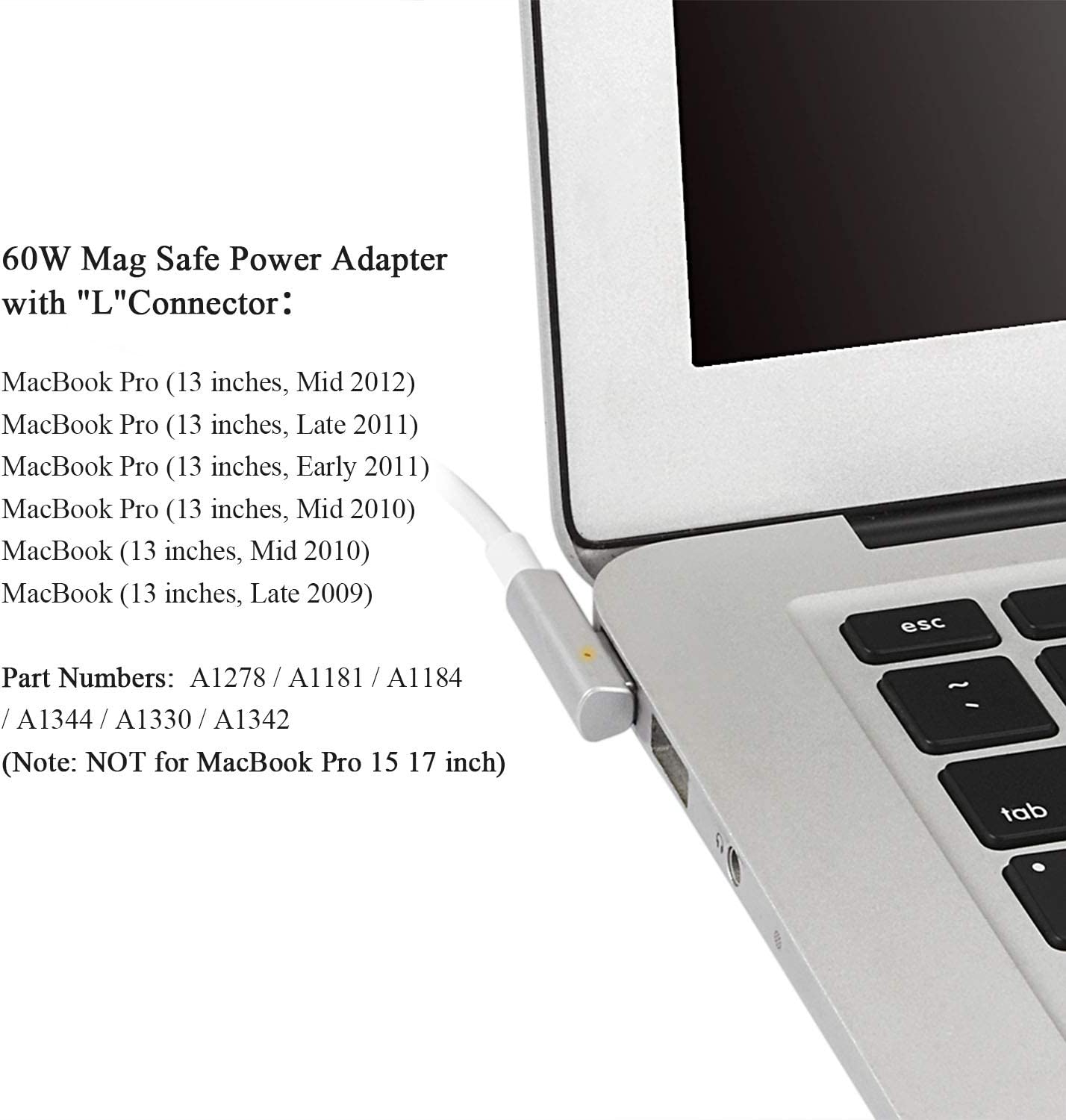 Mini Cargador de 60 W para Mac MacBook Pro de 13 Pulgadas con ...