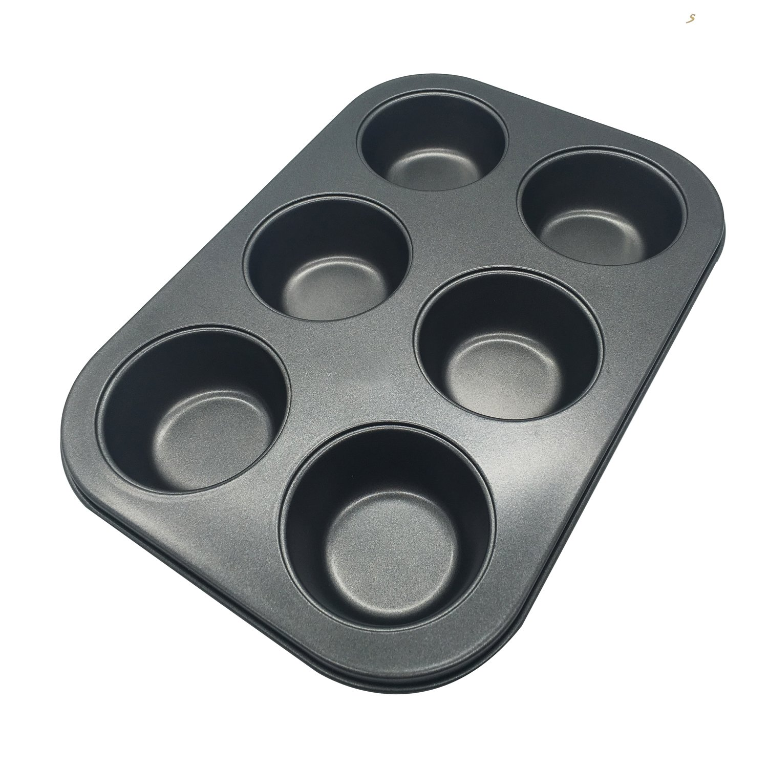 Perfect Results Nonstick 6-Cup Muffin Pan, Non-Stick Baking Pans, Easy to Clean and Perfect for Making Jumbo Muffins or Mini Cakes Kootips-1-4130