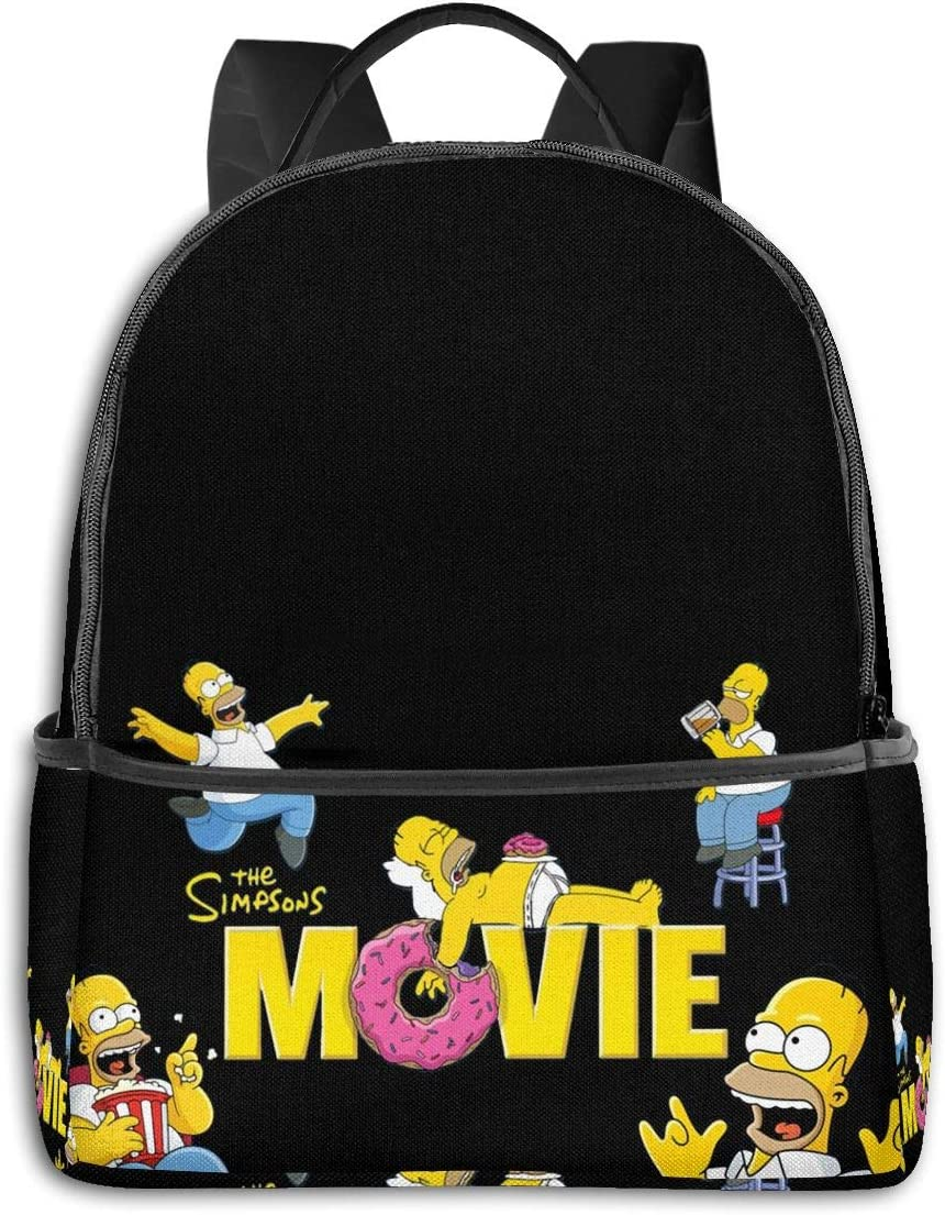 The Simpsons Water Resistant Casual Daypack Laptop Backpack for Women//Girls//Business//Travel Comfortable and Convenient
