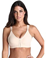 YIANNA Women's Post-surgical Front Close Sports Bra with Wide Back Support