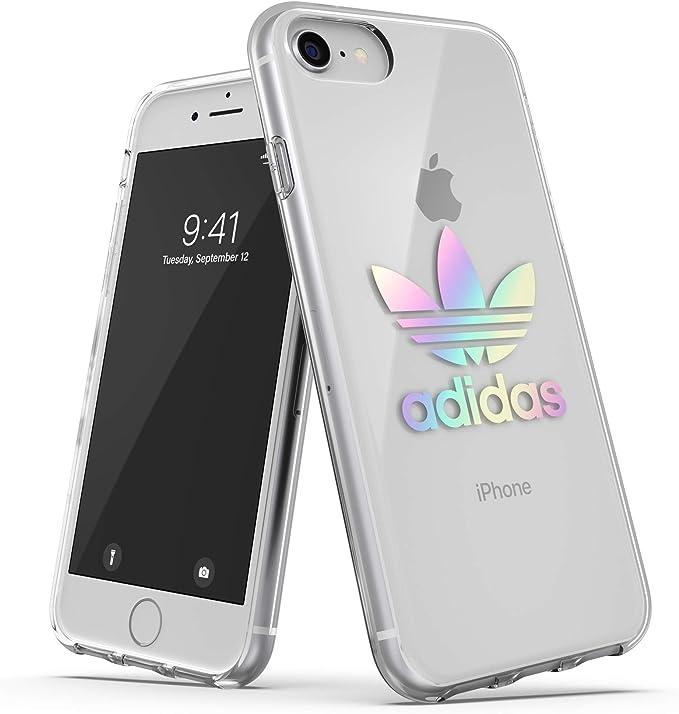 Adidas Originals - Custodia per cellulare compatibile con iPhone 6, 6S, 7, 8, olografico, trasparente