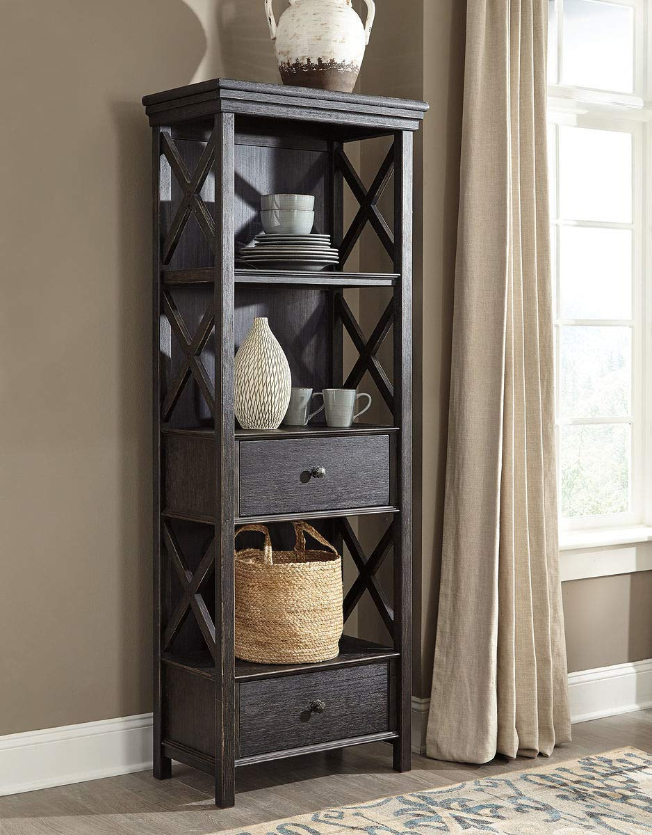 Ashley Furniture Signature Design - Tyler Creek Display Cabinet - Black/Gray