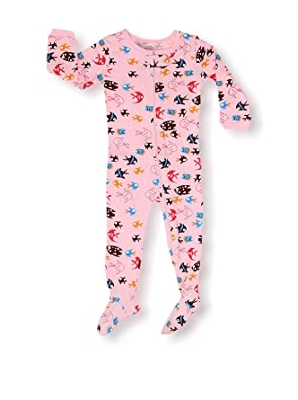 7fe4b86a43c8 elowel Baby Girls Footed Fish Pajama Sleeper 100% Cotton (Size 6M ...