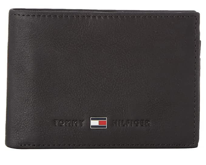Tommy Hilfiger Johnson Mini CC Flap Coin Pocket, Cartera Unisex-Adult, Negro (