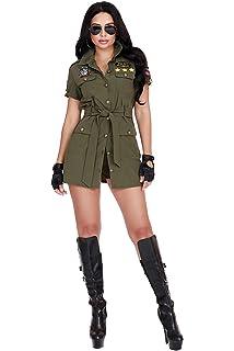 Amazon.com: Disfraz de aviador para mujer para adulto de los ...