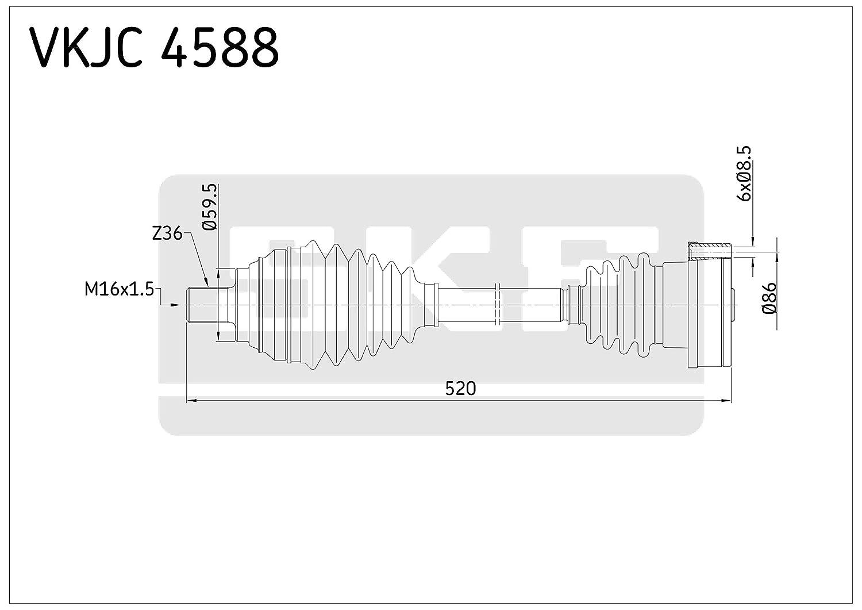 SKF VKJC 4588 Kit de transmission