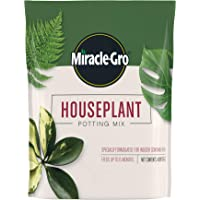 Miracle-Gro Houseplant Potting Mix: Fertilized, Perlite Soil for Indoor Gardening, Designed to Be Less Prone to Gnats, 4…