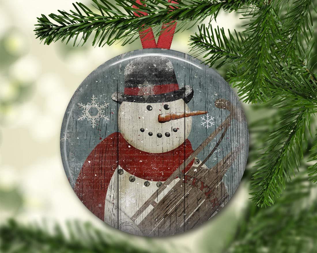 Amazon.com: Dozili Prim Snowmanament For Tree Christmas Decorations For  Tree Primitive Christmas Treeaments: Home U0026 Kitchen