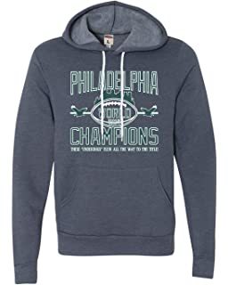 2a9bb74f Adult Philadelphia 2018 World Champions Football Champs Deluxe Super Soft Sweatshirt  Hoodie