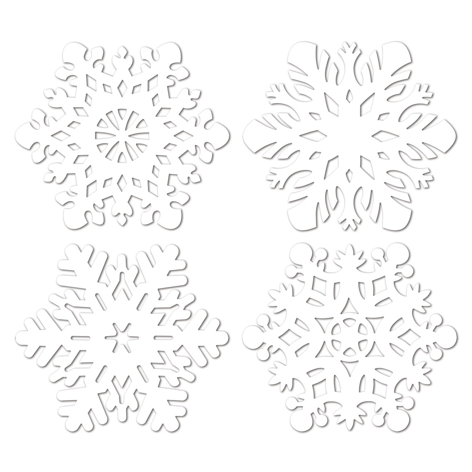 Beistle 22933 24-Piece Snowflake Cutouts, 14-Inch by Beistle