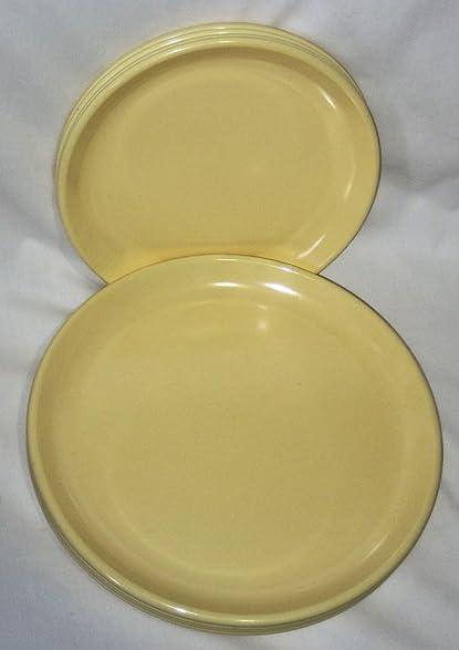 Vintage Rubbermaid Pale Yellow 8 Inch Luncheon u0026 10 Inch Hard Plastic Dinner Plate 8 & Amazon.com | Vintage Rubbermaid Pale Yellow 8 Inch Luncheon u0026 10 ...