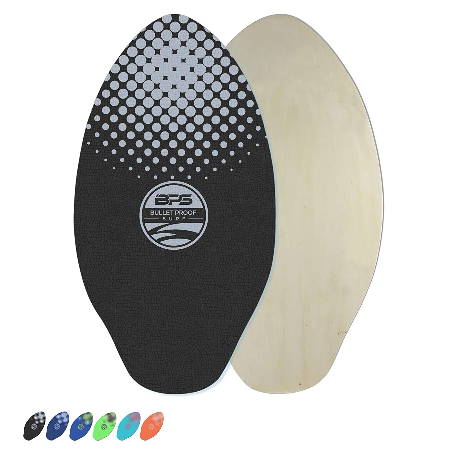 Bps Gator Skimboards With Colored Eva Grip Pad And High Gloss Clear Coat Wooden Skim Board With Grip Pads For Kids And Adults Choose From 3