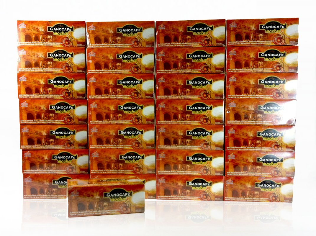 30 Boxes of Gano Excel Mocha Coffee with Ganoderma Lucidum, each Box of 15 Sachets