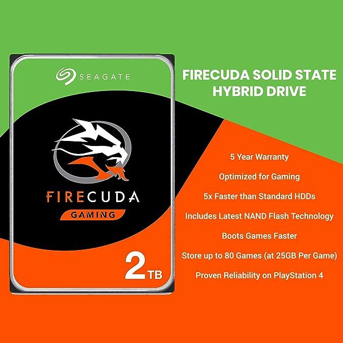 Fantom Drives PS4 Hard Drive Upgrade Kit with 2 TB Ultra Speed Seagate  Firecuda Gaming SSHD (SSD+Hard Drive) 5 Year Warranty