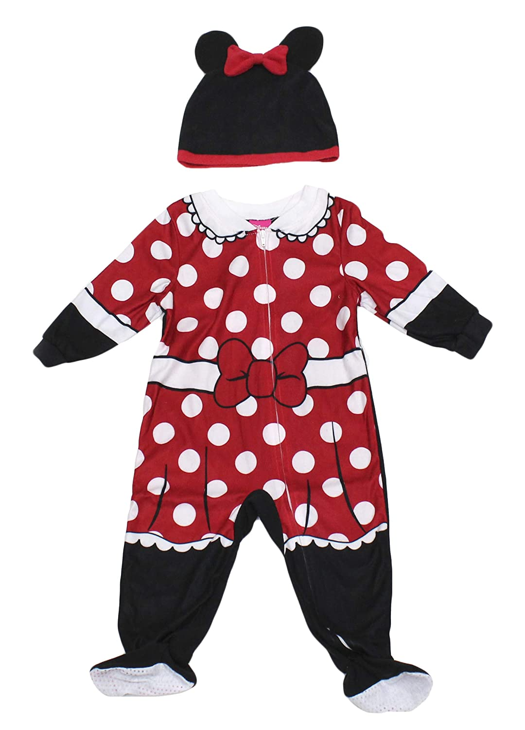 Disney Baby Toddler Girls Minnie Mouse Blanket Sleeper Pajama with Cap