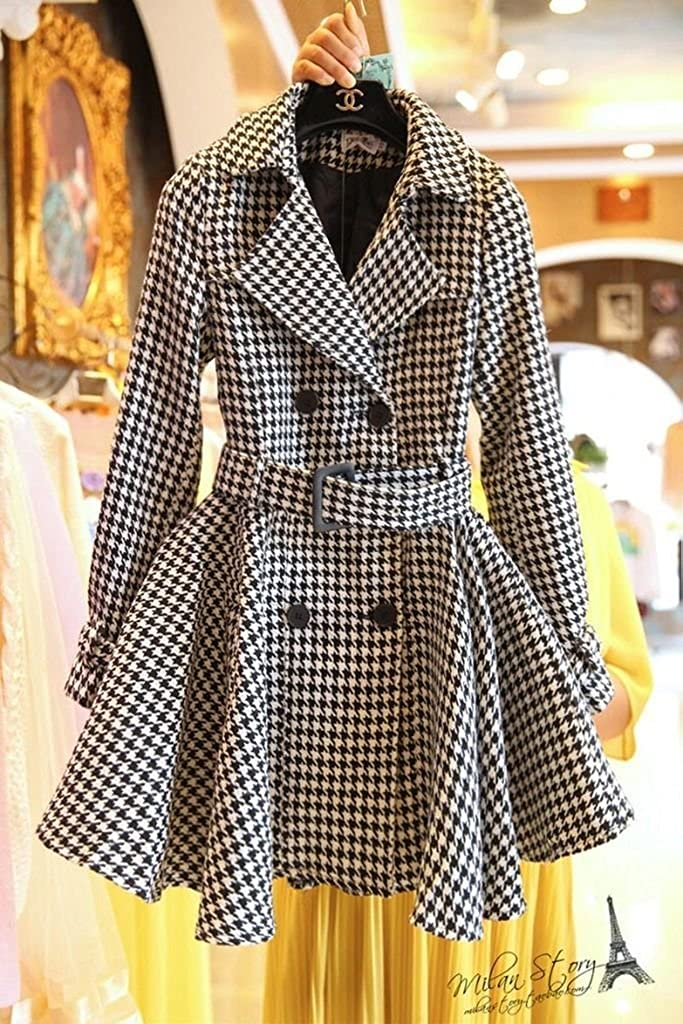 Angel/&Lily Oversized Trench Houndstooth Wool Blend Jacket Plus Size 1x-10x