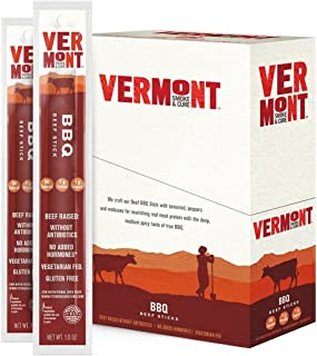 product image for Vermont Smoke & Cure Meat Sticks, Beef, Antibiotic Free, Gluten Free, BBQ, 1oz Stick, 24 Count