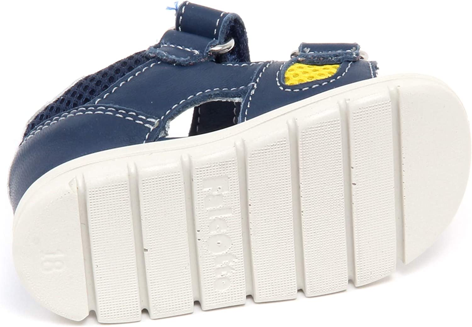 Falcotto F7348 Sandalo Bimbo Boy Baby Blu Scarpe Leather/Tissue Shoe Blu