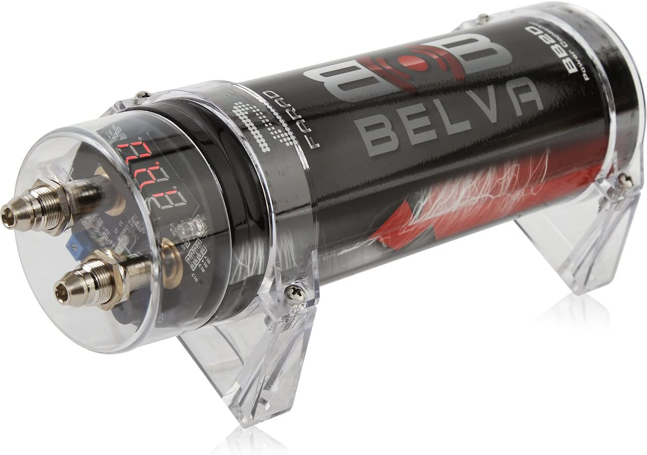 Belva 2.0 Farad Power Capacitor – Red Digital Voltage Display BB2D