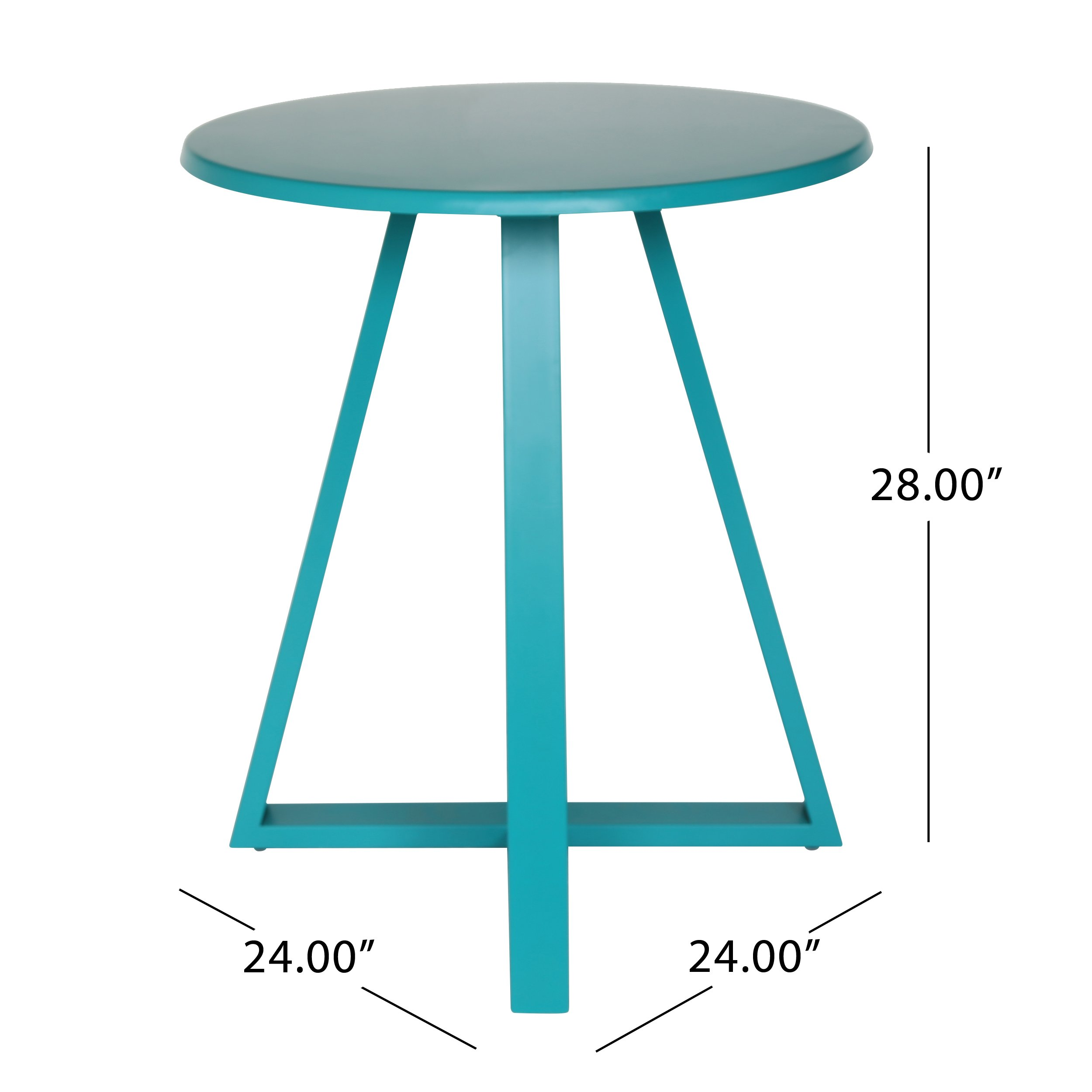 Great Deal Furniture Kate Outdoor Iron Bistro Set, Matte Teal by Great Deal Furniture (Image #8)