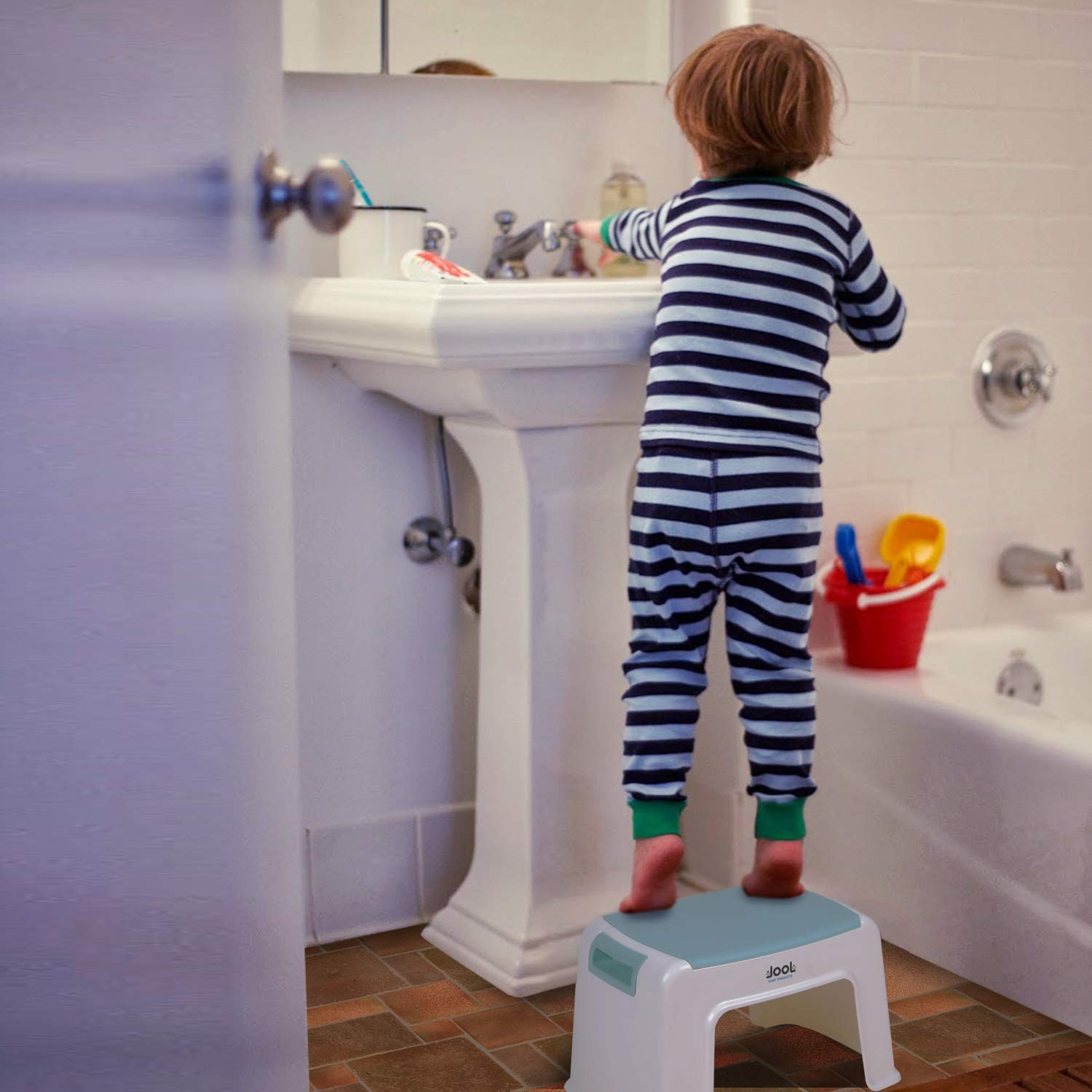 Jool Baby Toilet Training Step Stool with Anti-Slip Grips for Kids Child Step Stool for Boys /& Girls