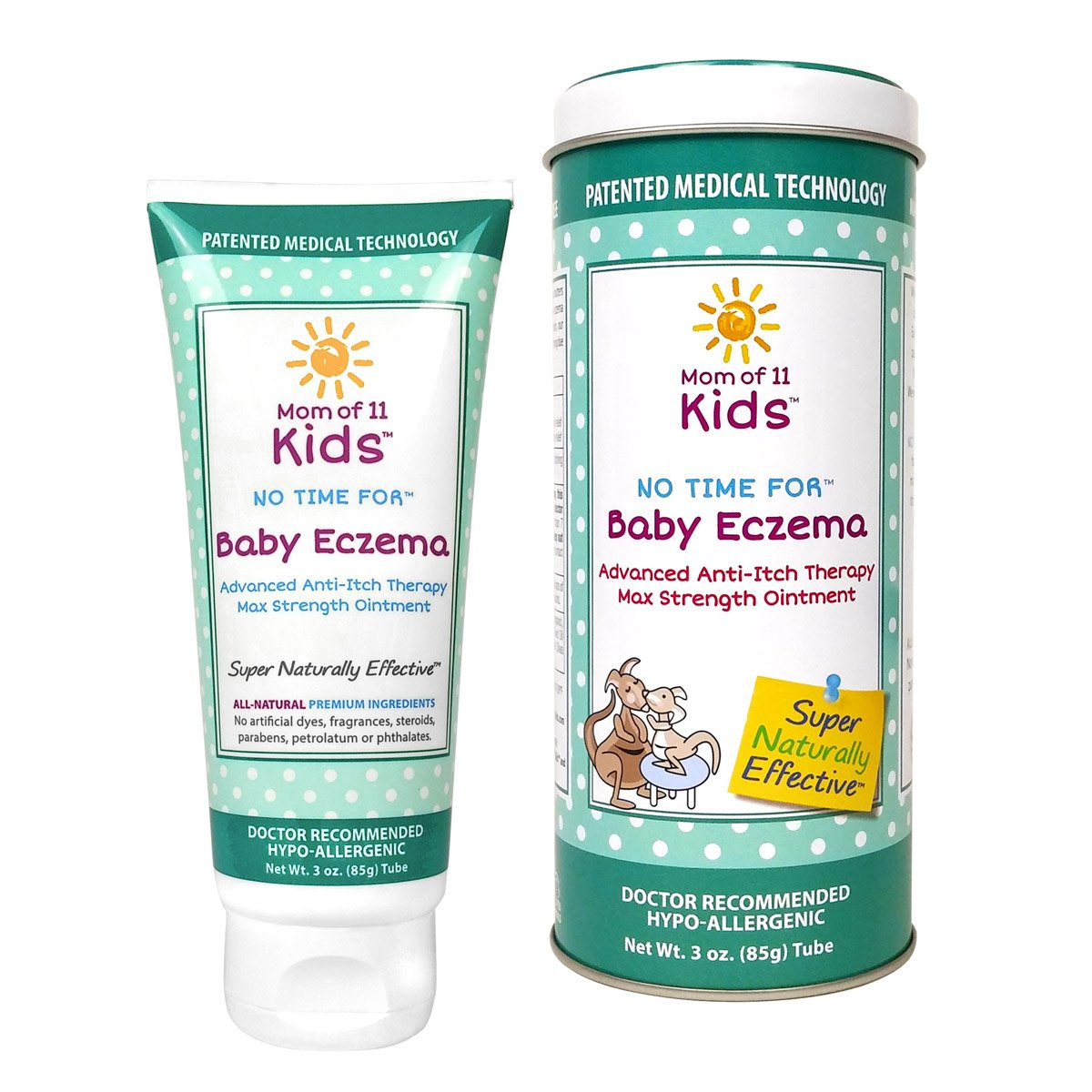 Baby Eczema Cream - Anti Itch Healing All Natural Hypoallergenic Dr Recommended Safe