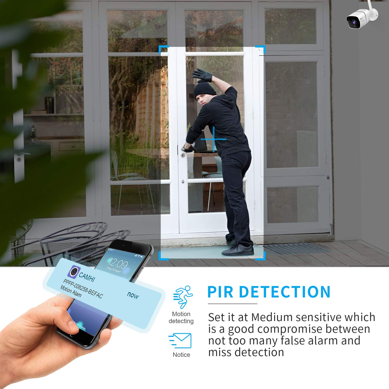 Impermeable IP66 C/ámara de Seguridad para Casa Garden Garaje C/ámara de Vigilancia Exterior H+Y C/ámara IP WiFi HD 1080P con Visi/ón Nocturna IR LED Motion Detection 2-Way Audio