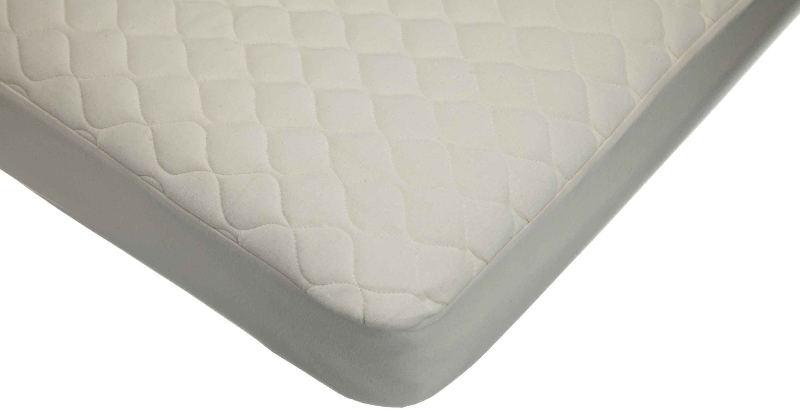 American Baby Company Waterproof Quilted CribandToddlerSize Fitted Mattress Cover made with Organic Cotton, Natural Color by American Baby Company