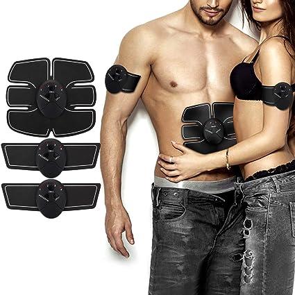 USB Wiederaufladbar ABS Elektrische Muskelstimulation Home Fitness Trainingsger/ät f/ür Herren und Damen Popolic EMS Bauchmuskeltrainer Muskelstimulator
