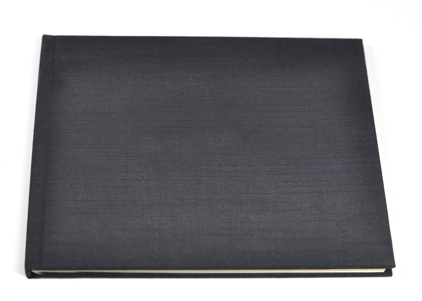 Unlined Guest Book or Memory Book with Blank Pages - Black Satin