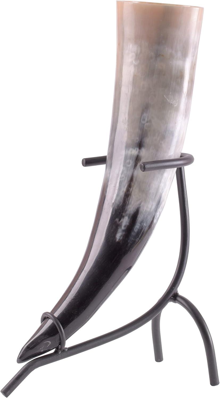Battle Merchant Cuerno Incluye Cuerno Soporte, Varios. tamaños–Vikingo Medieval Juego methorn