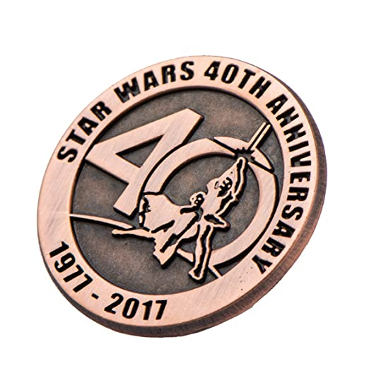 amazon com star wars 40th anniversary collectible bronze pin sdcc