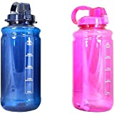GHP Tritan Outdoor Water Bottle with Carry Handle & Pop Up Straw