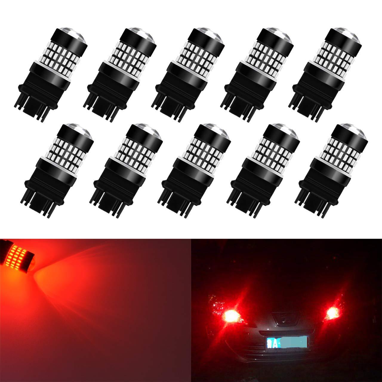 KaTur 1156 BA15S 7506 1073 1095 1141 Led Light Bulb Super Bright 900 Lumens High Power 3014 78SMD Lens LED Bulbs for Brake Turn Signal Tail Backup Reverse Brake Light Lamp,Xenon White Pack of 2