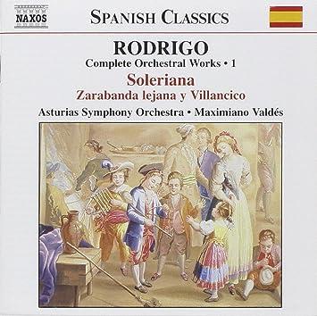 Amazon.com: Rodrigo: Complete Orchestral Works Vol. 1: Music