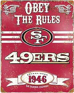 Party Animal NFL Embossed Metal Vintage Pub Signs
