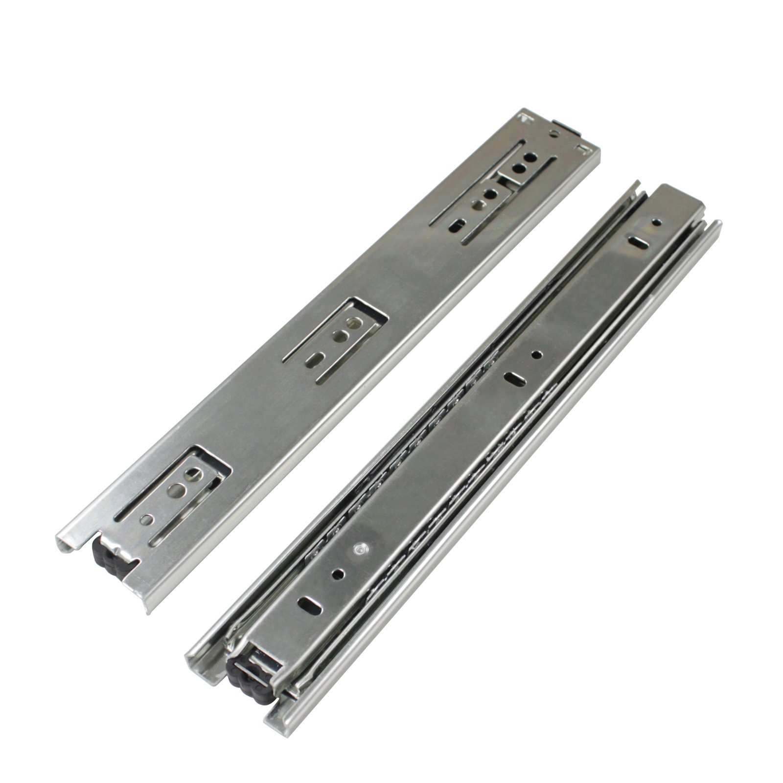 2 Pairs 22 inch Full Extension Side Mount Drawer Slides 3-Folds Ball Bearing Heavy Duty 100 lb Thickness:1.01.01.2mm by Probrico (Image #7)