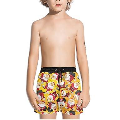 9f0e9194f7 Amazon.com: FullBo Christmas Happy Santa Claus Little Boy's Short Swim  Trunks Quick Dry Beach Shorts: Clothing